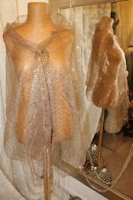 Gold sequin scarf wrap shawl -  Ditsy Vintage Vamp 30s style