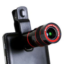 8x Zoom Telescope Lens Clip On Binocular Photography For Phone SmartPhone iPhone