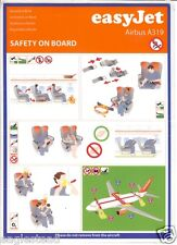 Safety Card - easyJet - A319 - Blue Border - c2007  (S2402)