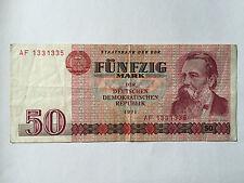 50 Mark 1971 BANCONOTA mille franchi RDT assolutamente autentici!!!
