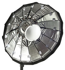 60cm Folding beauty dish, Silver, Lencarta/Bowens fitting