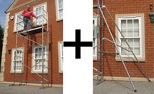 Super 5m DIY Aluminium Scaffold Tower with 2 Outriggers Next Day Delivery!