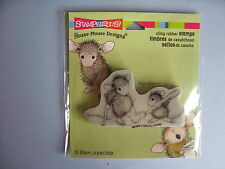 HOUSE MOUSE RUBBER STAMPS CLING CAST COLORING STAMP