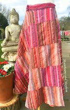 DIVINE NEW WRAP SKIRT TIE DYE HIPPIE BOHO UK SIZE 8 10 12 14 GYPSY DRESS YOGA
