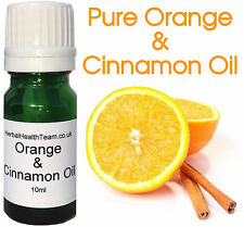 Pure Orange & Cinnamon Oil 10ml For Aromatherapy, Massaging Christmas ONLY £1.45
