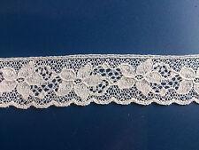 Delicado British Bonito Vestido de algodón Cluny Antiguo Ribete de Encaje Trim Lencería