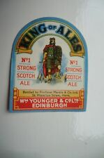 A WM YOUNGER & CO EDINBURGH PAPER BOTTLE LABEL BOTTLED IN HOVE SUSSEX