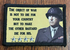 WWII General George S Patton Quote Morale Patch Military Tactical Army Flag USA