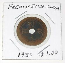 AUTHENTIC 1938 FRENCH INDO - CHINA 1 CENT COIN