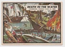 1962 TOPPS CIVIL WAR NEWS CARD #69 DEATH IN THE WATER
