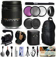 Sigma 18-250mm F3.5-6.3 DC OS Macro HSM Lens for Nikon + Deluxe Accessories Kit