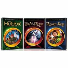 Hobbit/Return of the King/Lord of the Rings Animated Deluxe Edition 3 Pack - New