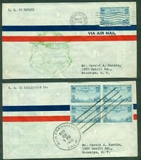 UNITED STATES, 1935, Trans-Pacific Clipper Flight FDCs to Hawaii & Philippines