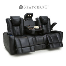 Seatcraft Innovator Media Sofa Fold-Table Black Power Headrest Home Theater Seat