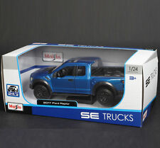 MAISTO 1:24 SE TRUCKS FORD F150 RAPTOR 2017 BLUE SHIPPING NOW 31266