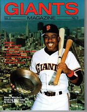 1988 San Francisco Giants Magazine MLB Baseball Volume 3 #3 PROGRAM