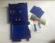 W Dark Blue Full Housing Shell Case Cover for Nintendo GBA SP Gameboy Advance SP