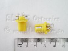 2x 12V B8.5D 3-LED Car Dash Twist Lock Instrument Cluster Gauge Bulbs Amber