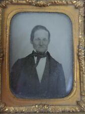 Man in a Suit Portrait Antique Daguerreotype Photo, Half Case, 1/9th 1800's