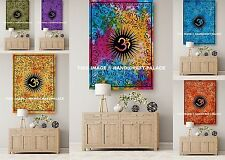Indian Cotton Wall Hanging 5 PC Wholesale Lot Yoga Mat OM Mandala Tapestry Throw