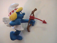 Vintage Smurfette red heart hat shooting an arrow 1982 Peyo Made in Portugal