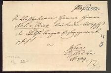 ÖSTERREICH 1838 VORPHILABRIEF von PILSEN nach WIEN(D0852