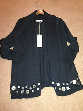 John Rocha 'Shelltastic' Dark Blue Cardi Cardigan BNWT (bought for £42) size 12