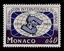 MONACO #748 International Labor Organization 50th Anniv 0,40F MNH VF OG 1969