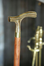"WALKING CANE Wood & Smooth Handle 37"" COMFY DERBY STICK~Vintage Antique Style"