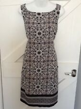 Wallis Printed Paisley Dress Size 12 New Black And Cream