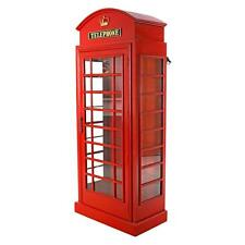 "72"" London British Telephone Phone Booth Display Cabinet Replica Reproduction"