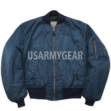 Made in USA New ALPHA Us Ground Crew Flight Jacket Army Military Blue Large