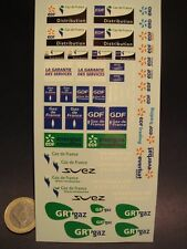 DECALS 1/43 DIVERS EDF - GDF - T333