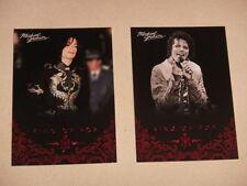 Michael Jackson - No 24 & 38 - 2 Panini Trading Cards 2011 *RARE* aus USA