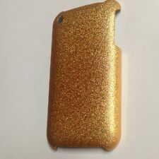 New Gold Glitter Plastic Case Hard Cover & LCD Protector For Apple iPhone 3G 3GS
