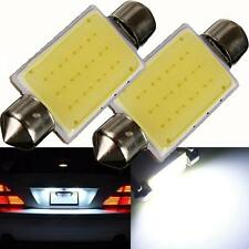 2PCS Universal 41mm Festoon COB 12 Chips DC 12V LED Car Dome Reading Lights Bulb