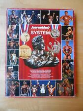 Original Joe Weider BODYBUILDING SYSTEM muscle book with 9 Wall Charts/Posters