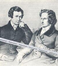 Jacob und Wilhelm Grimm - Poträt der Literaturwissenschaftler - O 11-16