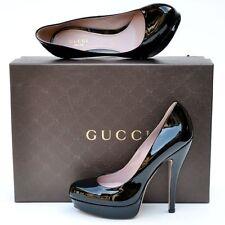 GUCCI New sz 38.5 8.5 Black $650 Authentic Designer Womens Platform Heels Shoes