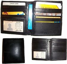 3 Leather Hipster wallet USA Euro all International bank notes zip coin purse BN
