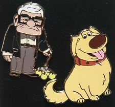 Disney Pixar Up Dug the Dog & Carl Fredrickson 2 Pin Set NEW ON ORIGINAL CARD