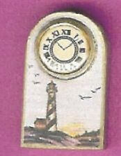 DOLLHOUSE MINIATURES LIGHTHOUSE MANTLE CLOCK Non Working