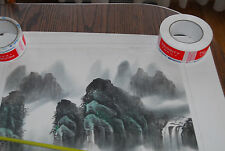 BIG Vintage Chinese Watercolor Mountain Painting China Original Art Lot 3 Signed