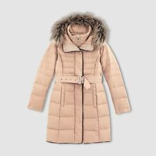 LA REDOUTE LADIES LONG PADDED DOWN FILLED COAT SAND SIZE 10 NEW (372)