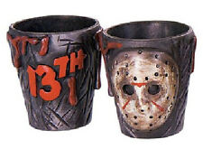 Friday the 13th Movie Pair of 3-D Plastic Jason Shot Glasses, NEW UNUSED