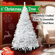 6Ft Artificial PVC Christmas Tree W/Stand Holiday Season Indoor Outdoor White OY