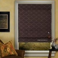 Cell Check Fabric Roman Shades - Many Sizes - Free Shipping