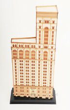 "Old New York One Times Square Building 3D Architectural Wooden Model 21"" w/ Case"