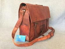 "Handmade Goat Leather 17"" Laptop Bag SXLP+ Satchel Briefcase *Free Leather Care*"