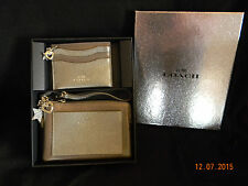 COACH CHARM CORNER ZIP WRISTLET AND CARD CASE GIFT BOX SET FOR LADY F64649